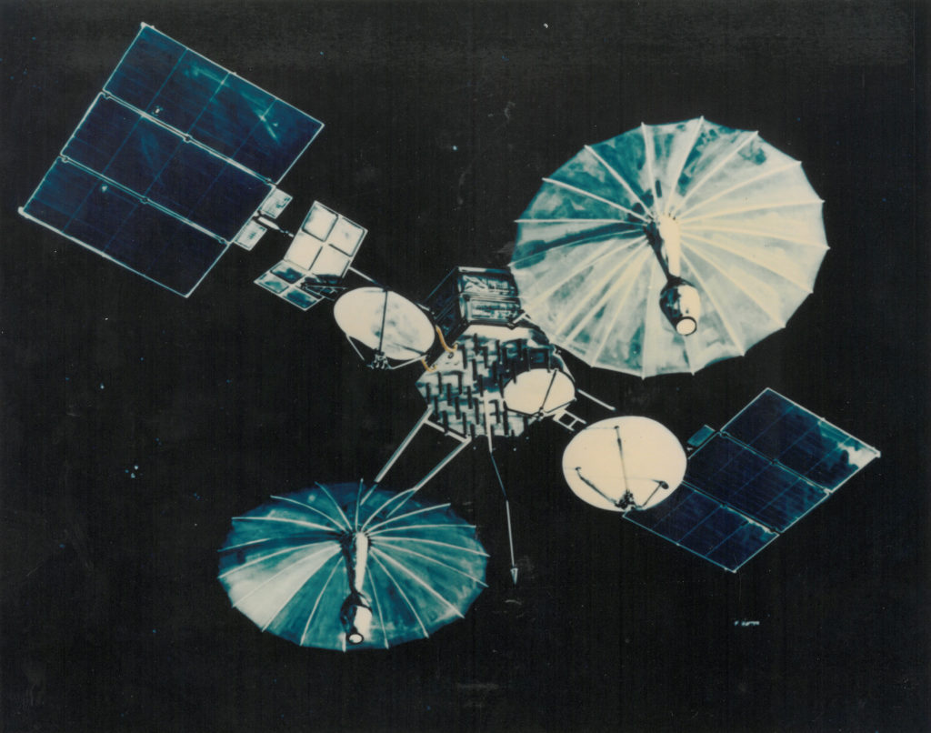 Illustration of a first-generation Tracking and Data Relay Satellite.