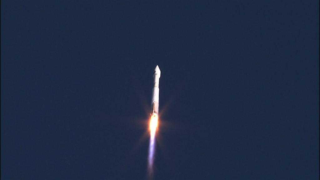 Liftoff of NASA's TDRS-M spacecraft on a United Launch Alliance Atlas V rocket.