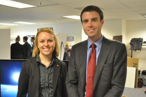 Lauren and Jamie at DEVELOP's Annual Applications Showcase at NASA Headquarters