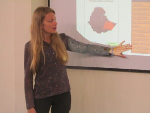 Dr. Amanda West teaching during a remote sensing and GIS workshop.