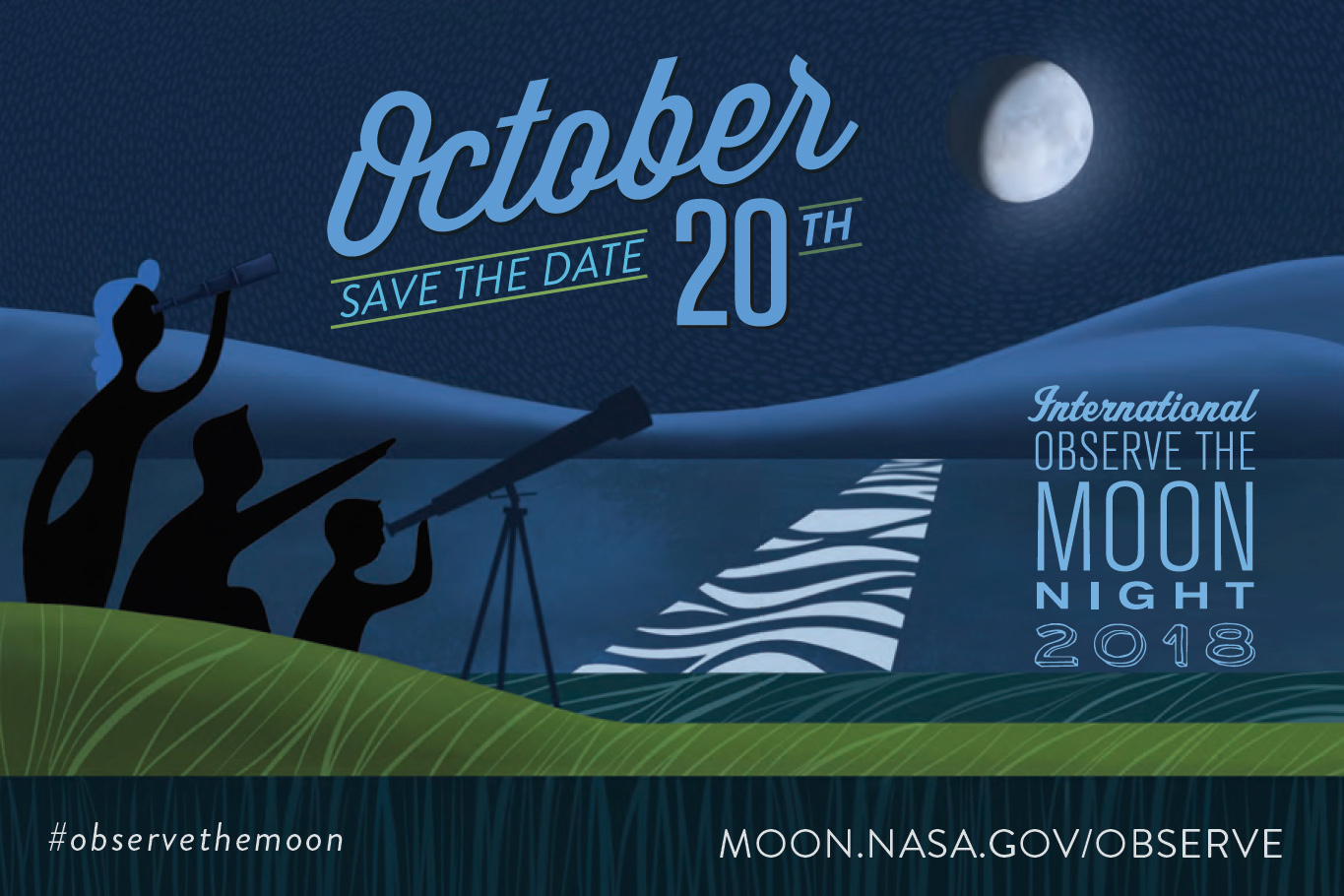 International Observe the Moon Night 2018 graphic