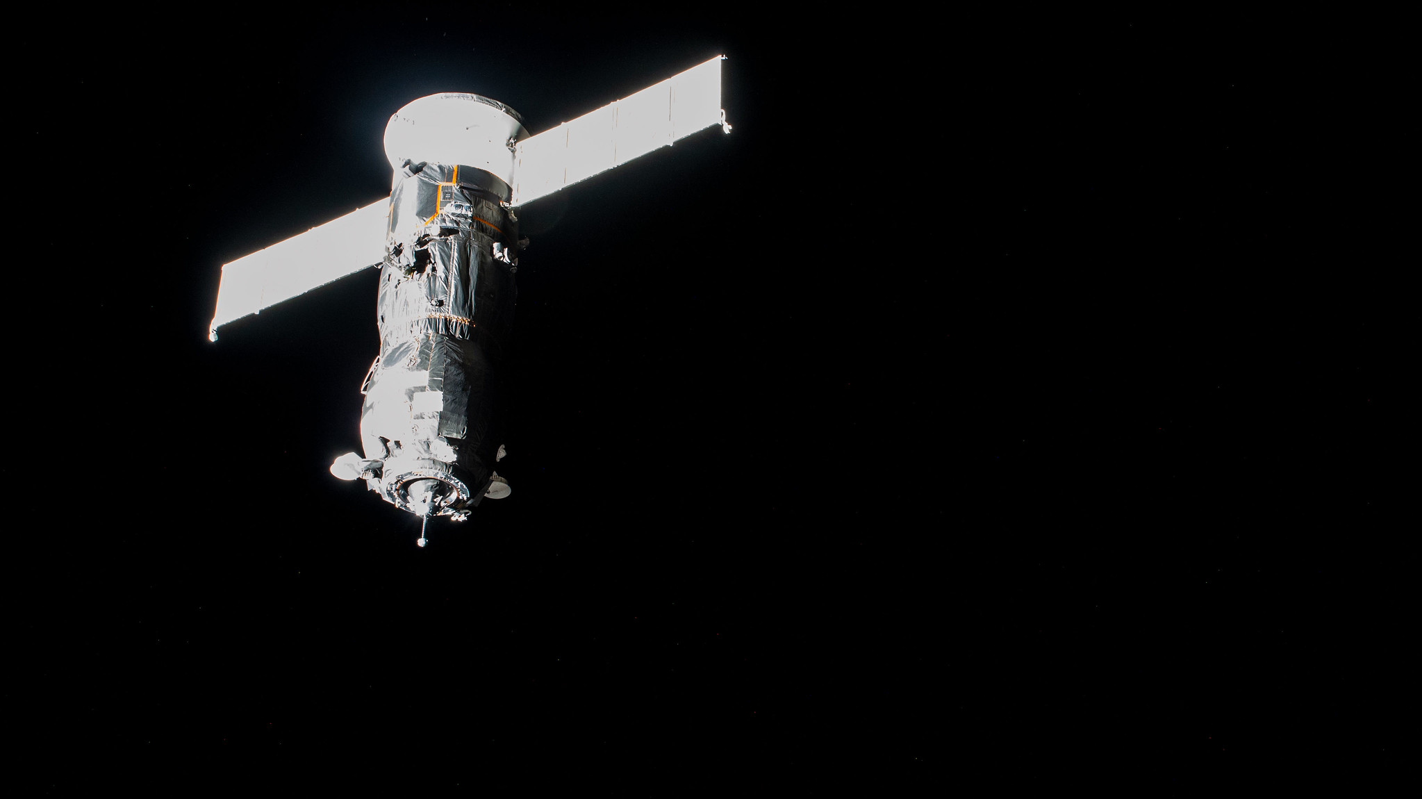 Russia's ISS Progress 78 resupply ship approaches the International Space Station for a docking to the Poisk module two days after lifting off from the Baikonur Cosmodrome in Kazakhstan.