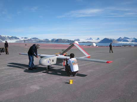SIERRA UAS being prepared at Svalbard