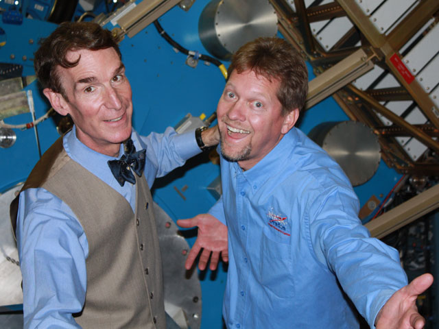 Bill Nye and Kevin Rohrer