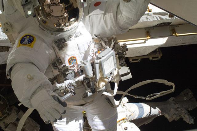 ISS032-E-024217 -- Spacewalker Aki Hoshide