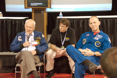 Bruce McCandless, Chris Giersch, and Clay Anderson
