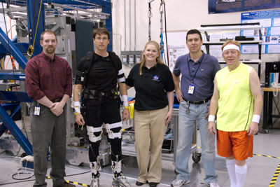 Chris and Blair with the Exercise Countermeasures crew.