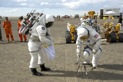 Spacesuit Testing at Moses Lake