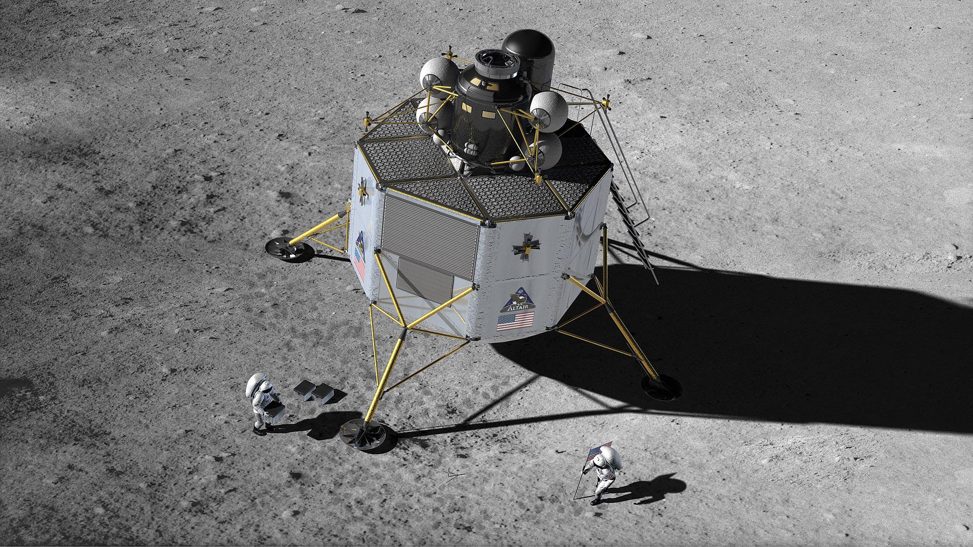 built lunar landers - photo #23