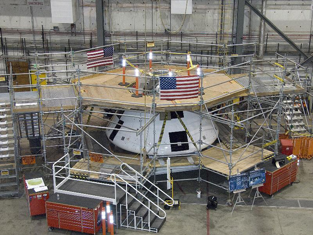 Orion PA-1 flight test crew module at Dryden