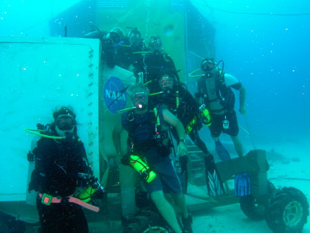 Divers gather for a photo