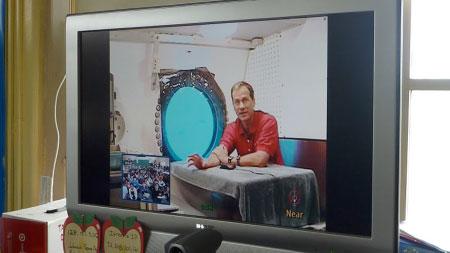 Astronaut Tom Marshburn speaks