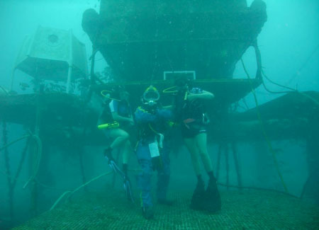 Support divers and aquanaut