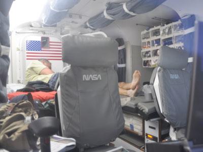 Crew member relaxing