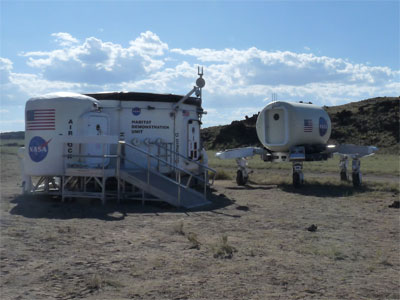 ATHLETE rover and Habitat Demonstration Unit