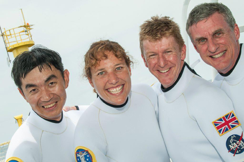 The NEEMO 16 Crew prepares for splashdown