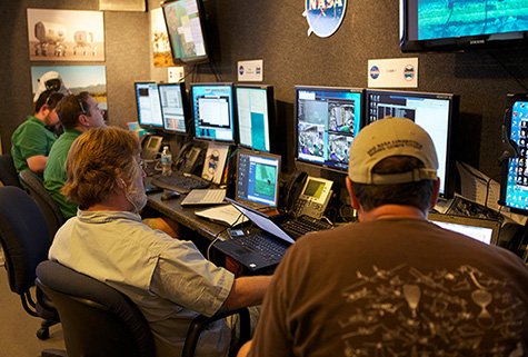 Mobile Mission Control Center team