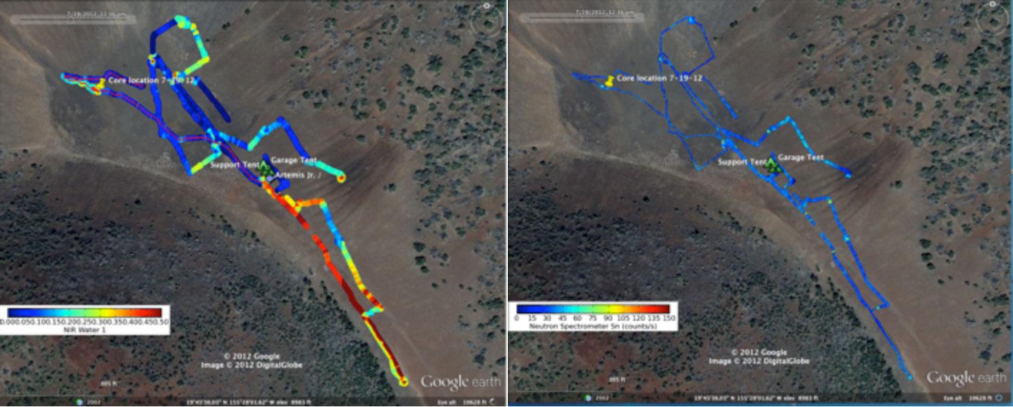 Comparative band-depths show water abundance