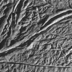 close-up, raw image of Enceladus