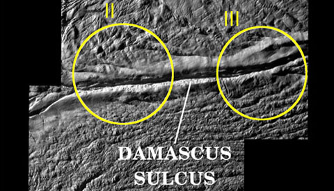 source of jets on Enceladus