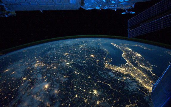 Central Europe from ISS
