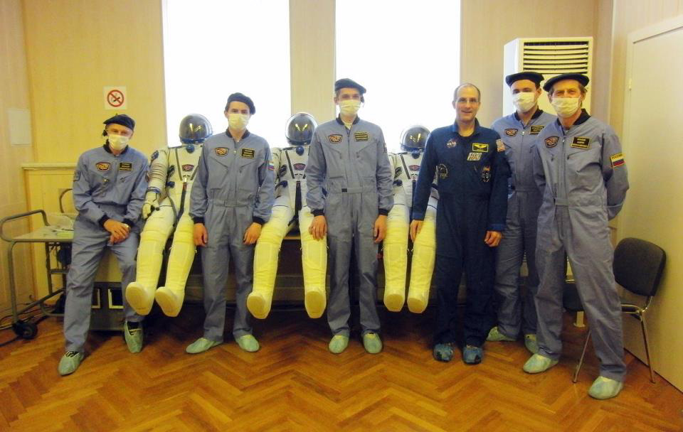 Suit technicians and inflated spacesuits. I'm the one without the mask.