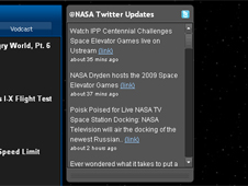 Screenshot of the New Twitter Updates box