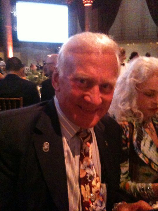 Webby Award event photo of Buzz Aldrin and wife Lois