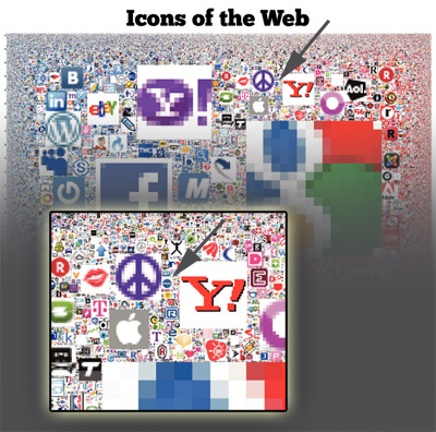 Icons of the Web showing NASA.gov
