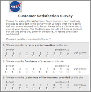 Foresee Customer satisfaction Survey