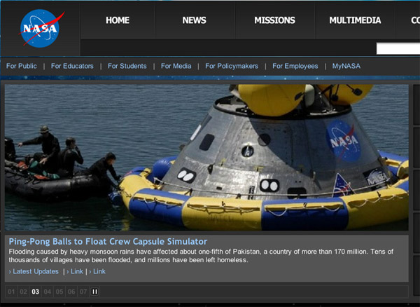 image of www.nasa.gov news feature