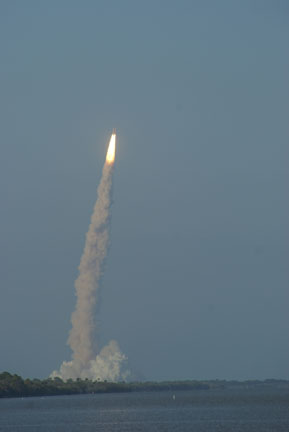 The STS-133 launch