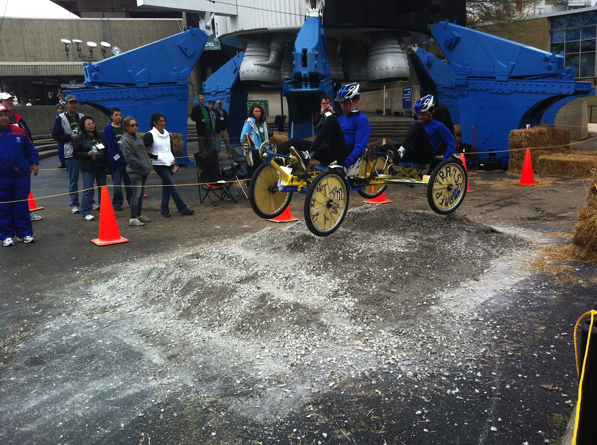 A moonbuggy on the course