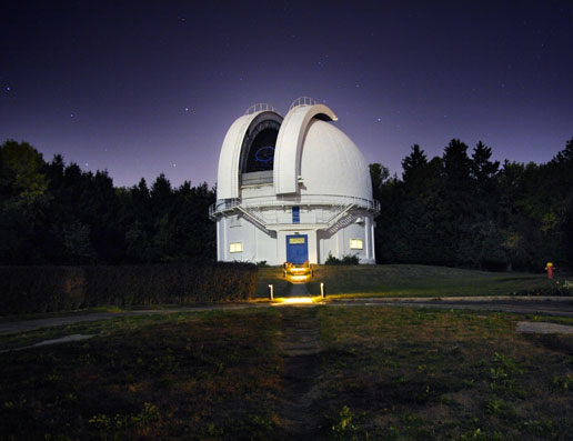 Photo of the David Dunlap Observatory outside Toronto, Canada.