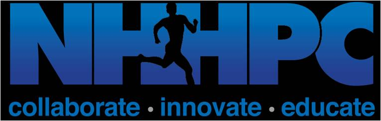 The NASA Human Health and Performance Center logo, showing the core goals of collaboration, innovation, and education in global human health and performance ...