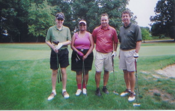 Garry Gaukler, Linda Cureton, Gary Cox, Mark Hagerty 2007 NASA HQ Golf Event