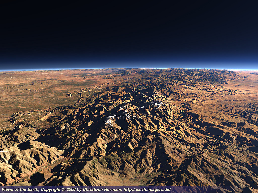 View of the Atlas Mountains by Christoph Hormann - http://earth.imagico.de/views/atlas_large.jpg