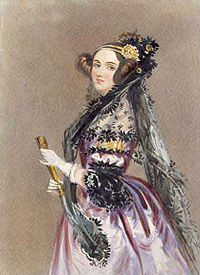 The beautiful Ada Lovelace the first computer programmer.