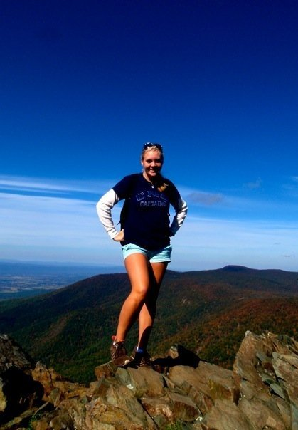 Ande at the top of Old Rag Mountain in Shenandoah National Park!