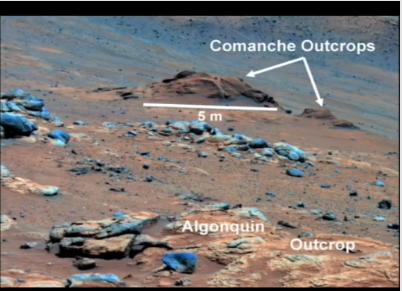 "Mars outcrop called ""Comanche"""