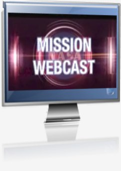 Mission Webcast logo shown on TV screen