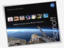 Spinoff Cover showing view of Earth from shuttle