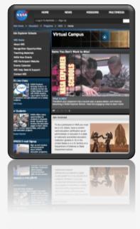 Virtual Campus home page.