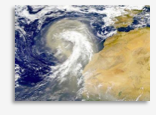 Satellite image of clouds off western coast of Africa