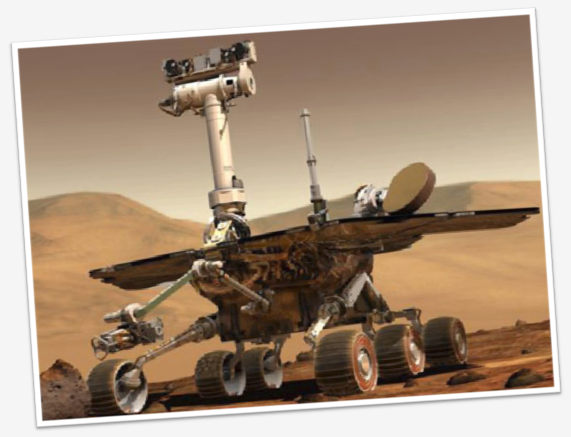 Artist concept - Spirit on Mars