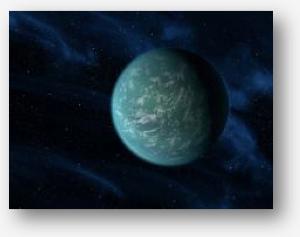 Artist concept of Kepler 22B