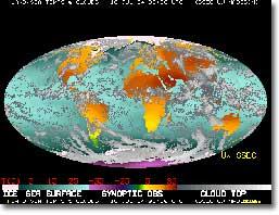 False color image of Earth