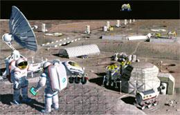 Artist concept: Lunar colony