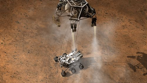 Artist's Concept: A Moment After Curiosity's Touchdown
