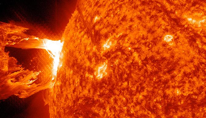 Image of coronal mass ejection